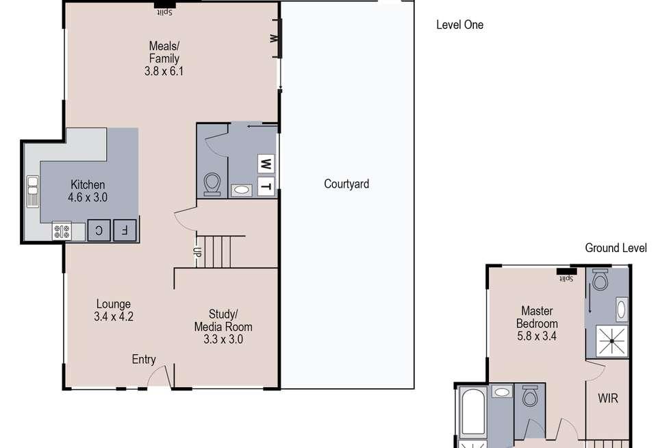 Floorplan of Homely townhouse listing, 1/34 Sunrise Drive, Sunshine West VIC 3020