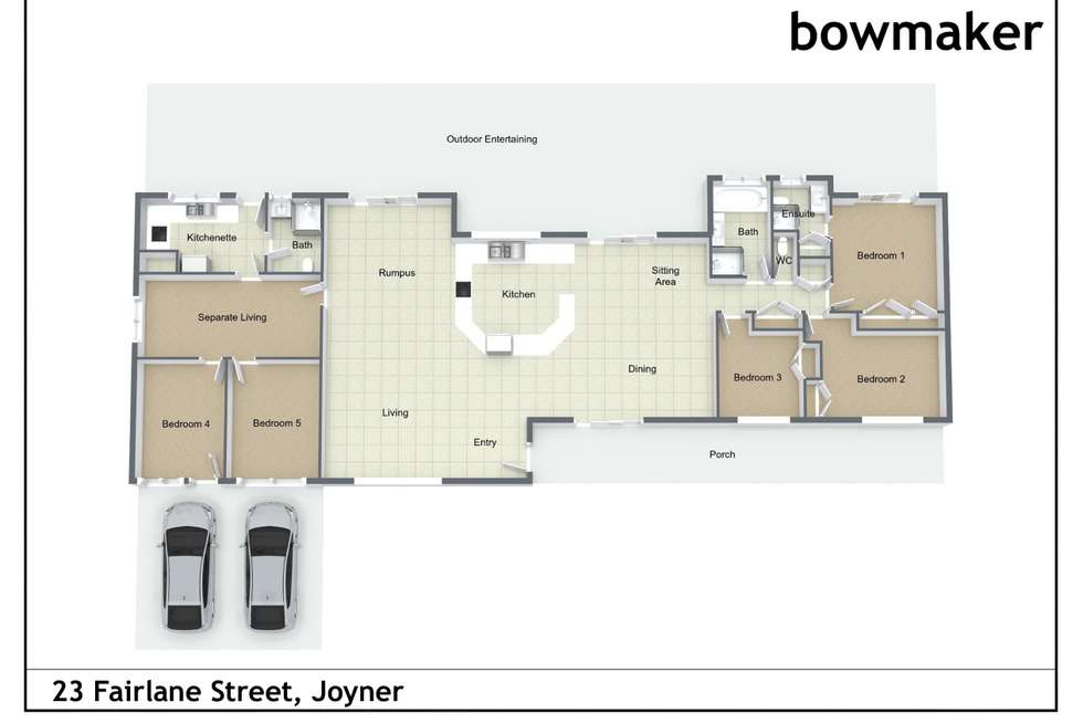 Floorplan of Homely house listing, 23 Fairlane Street, Joyner QLD 4500