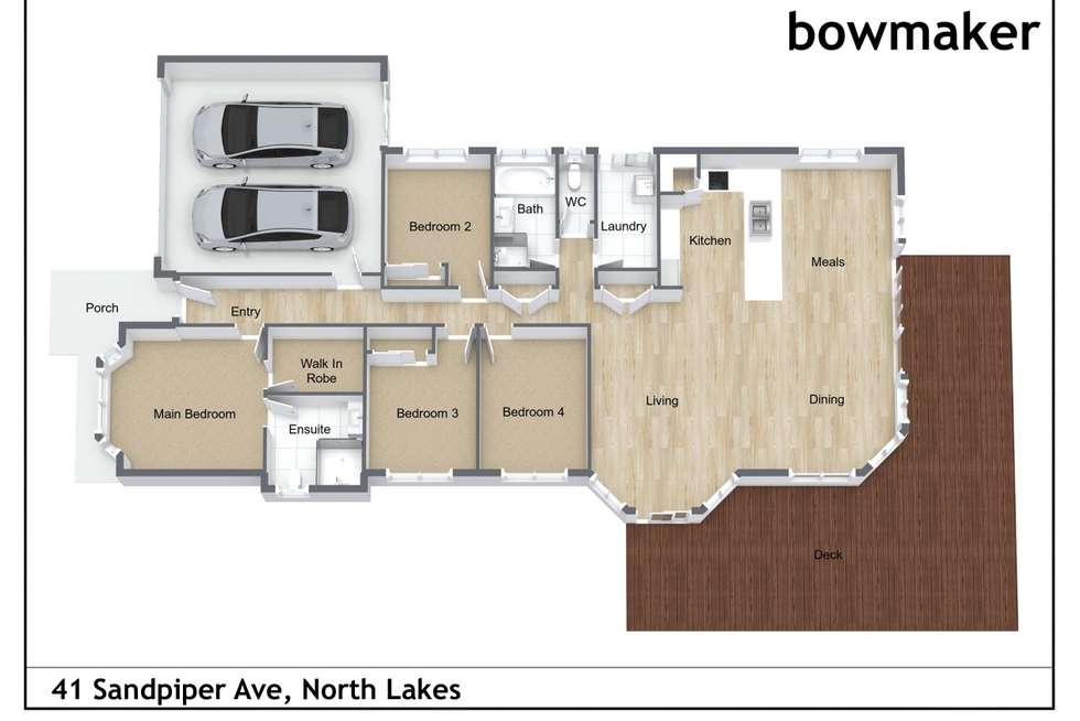 Floorplan of Homely house listing, 41 Sandpiper Avenue, North Lakes QLD 4509