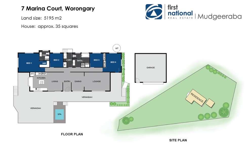 Floorplan of Homely acreageSemiRural listing, 7 Marina Court, Worongary QLD 4213