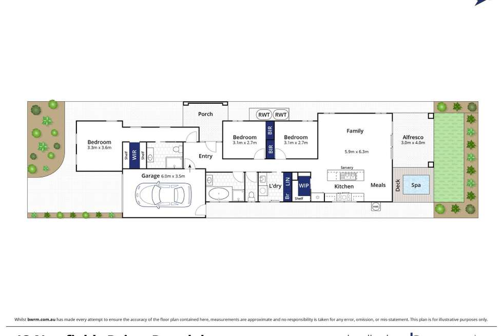 Floorplan of Homely house listing, 13 Newfields Drive, Drysdale VIC 3222