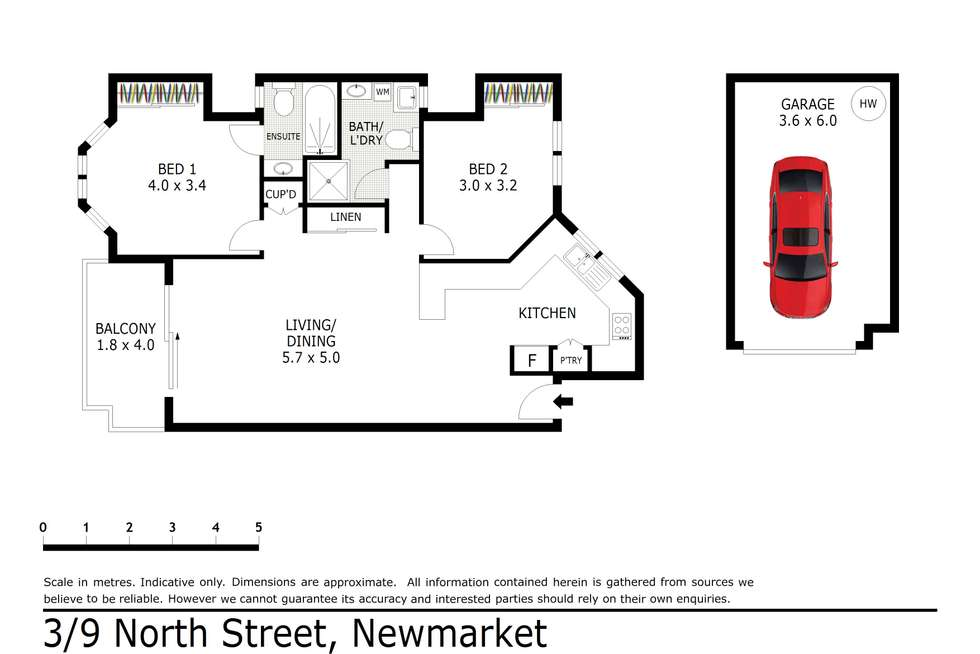 Floorplan of Homely apartment listing, 3/9 North Street, Newmarket QLD 4051