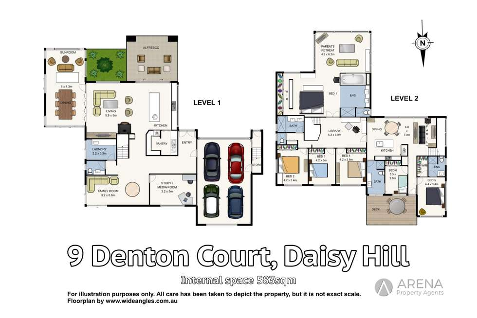 Floorplan of Homely house listing, 9 Denton Court, Daisy Hill QLD 4127