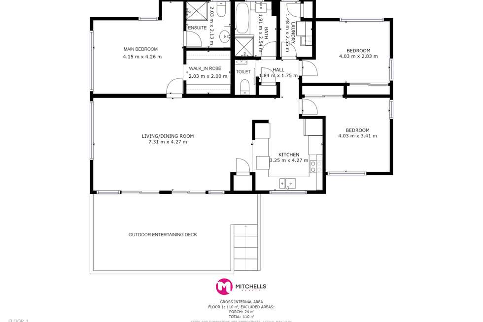 Floorplan of Homely house listing, 1/415-417 Boat Harbour Drive, Torquay QLD 4655