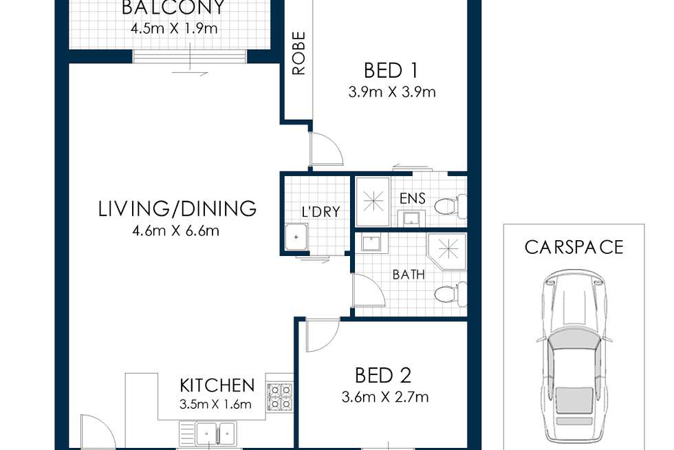 Floorplan of Homely apartment listing, 15/139-143 Waterloo Road, Greenacre NSW 2190