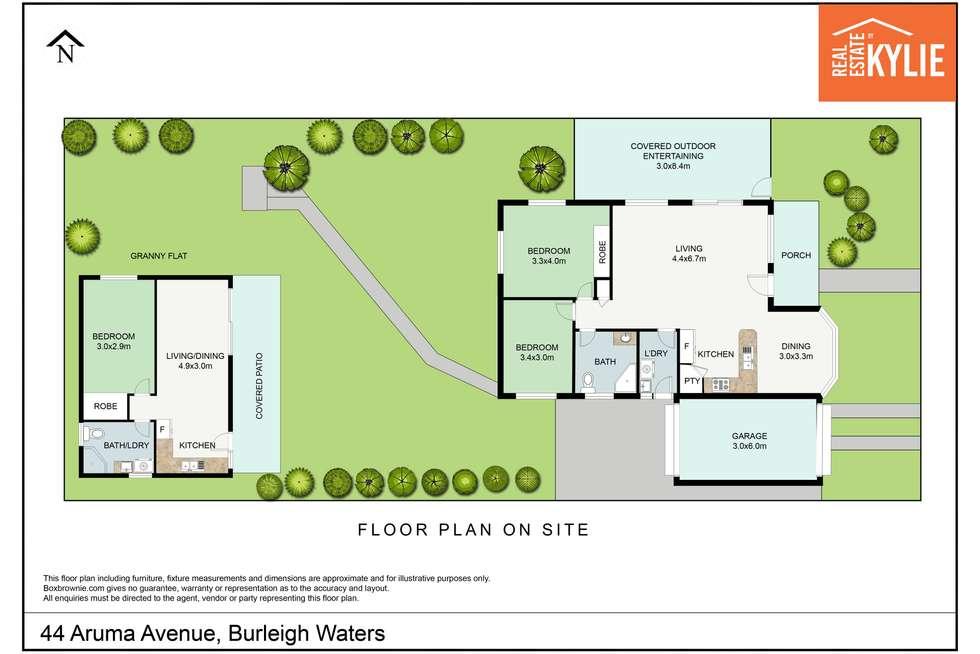 Floorplan of Homely house listing, 44 Aruma Avenue, Burleigh Waters QLD 4220
