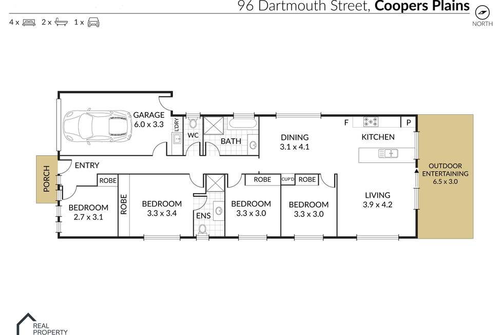 Floorplan of Homely house listing, 96 Dartmouth Street, Coopers Plains QLD 4108