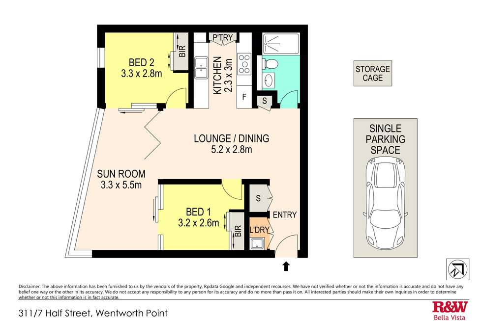 Floorplan of Homely apartment listing, 311/7 Half Street, Wentworth Point NSW 2127