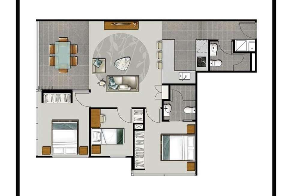 Floorplan of Homely apartment listing, 704/55 Railway Terrace, Milton QLD 4064
