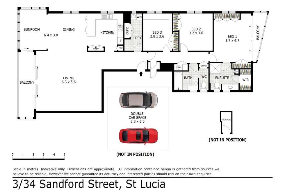 Floorplan of Homely unit listing, 3/34 Sandford Street, St Lucia QLD 4067