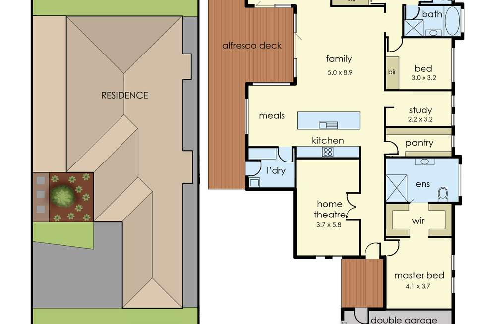 Floorplan of Homely house listing, 39 Belvedere Drive, Pakenham VIC 3810