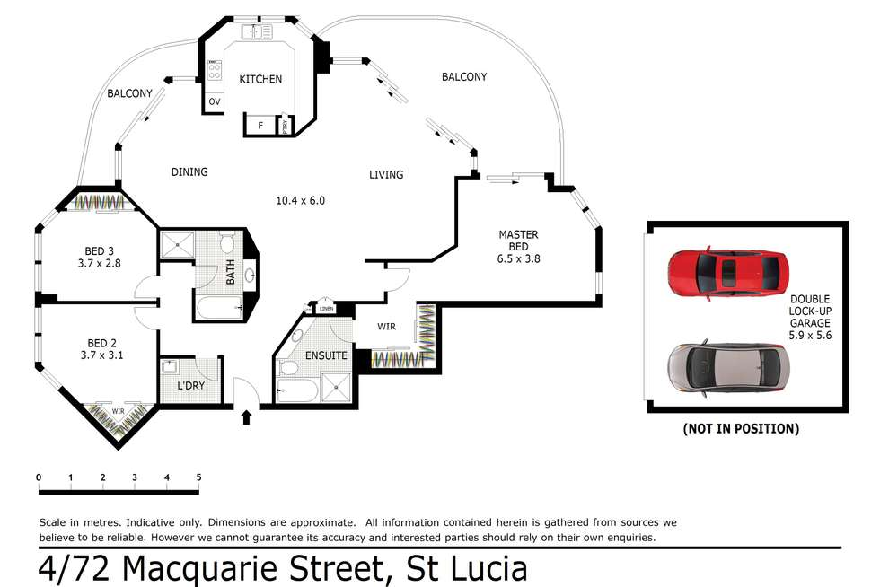 Floorplan of Homely unit listing, 4/72 Macquarie Street, St Lucia QLD 4067