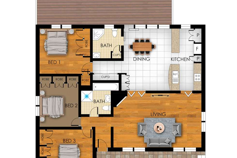 Floorplan of Homely house listing, 261 Cobbitty Road, Cobbitty NSW 2570