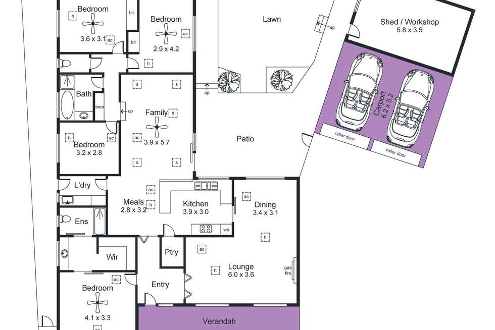 Floorplan of Homely house listing, 27 Highfield Drive, Aberfoyle Park SA 5159