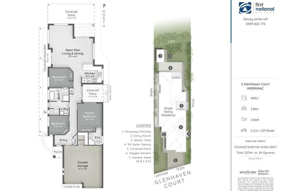 Floorplan of Homely house listing, 6 Glenhaven Court, Merrimac QLD 4226