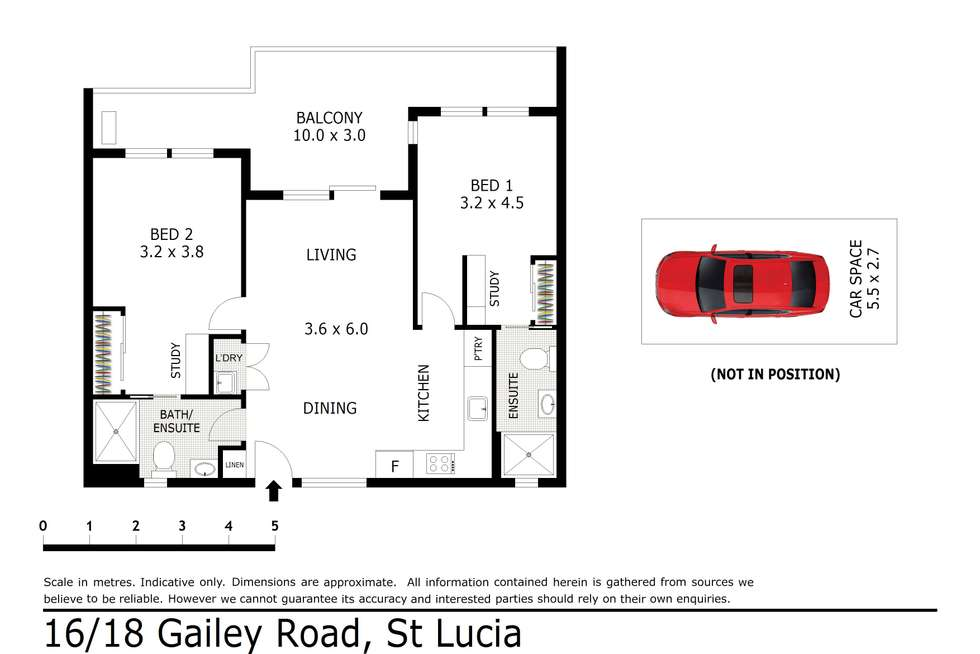 Floorplan of Homely unit listing, 16/18 Gailey Road, St Lucia QLD 4067