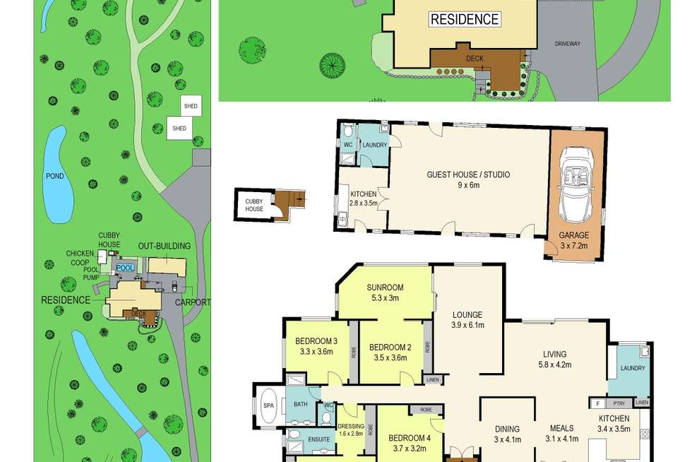 Floorplan of Homely acreageSemiRural listing, 112 West Wilchard Road, Castlereagh NSW 2749