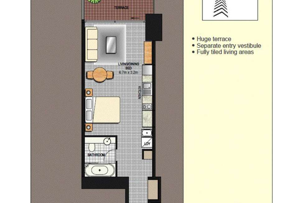 Floorplan of Homely apartment listing, 1917/91 Liverpool St, Sydney NSW 2000