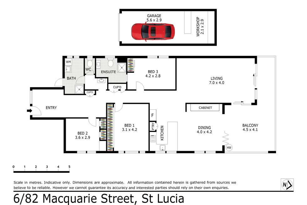 Floorplan of Homely apartment listing, 6/82 Macquarie Street, St Lucia QLD 4067