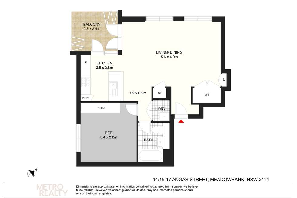 Floorplan of Homely apartment listing, 14/15 Angas Street, Meadowbank NSW 2114