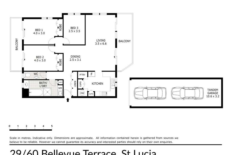 Floorplan of Homely apartment listing, 29/60 Bellevue Terrace, St Lucia QLD 4067