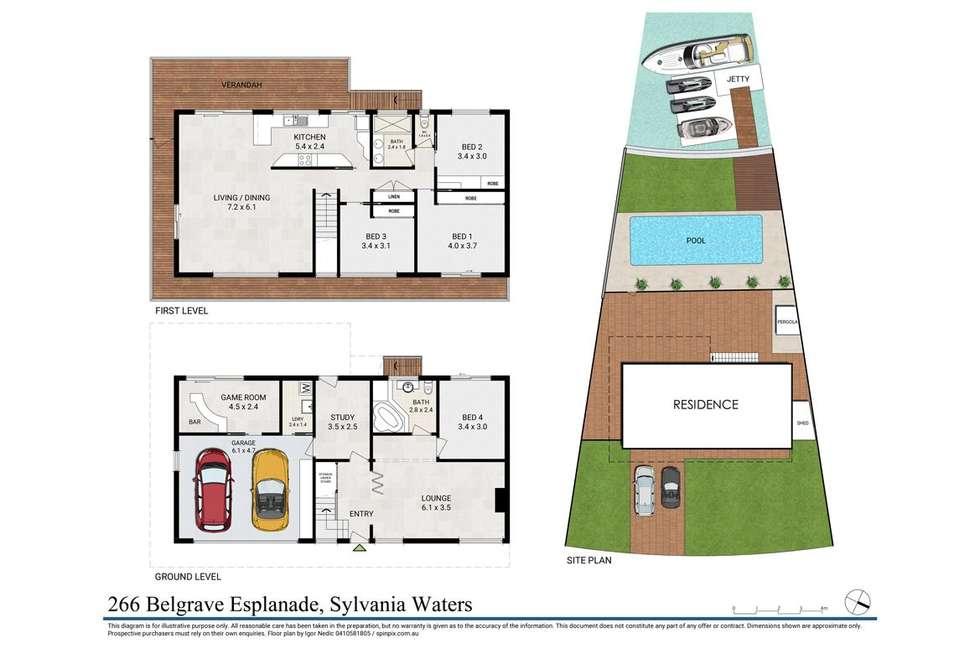 Floorplan of Homely house listing, 266 Belgrave Esplanade, Sylvania Waters NSW 2224