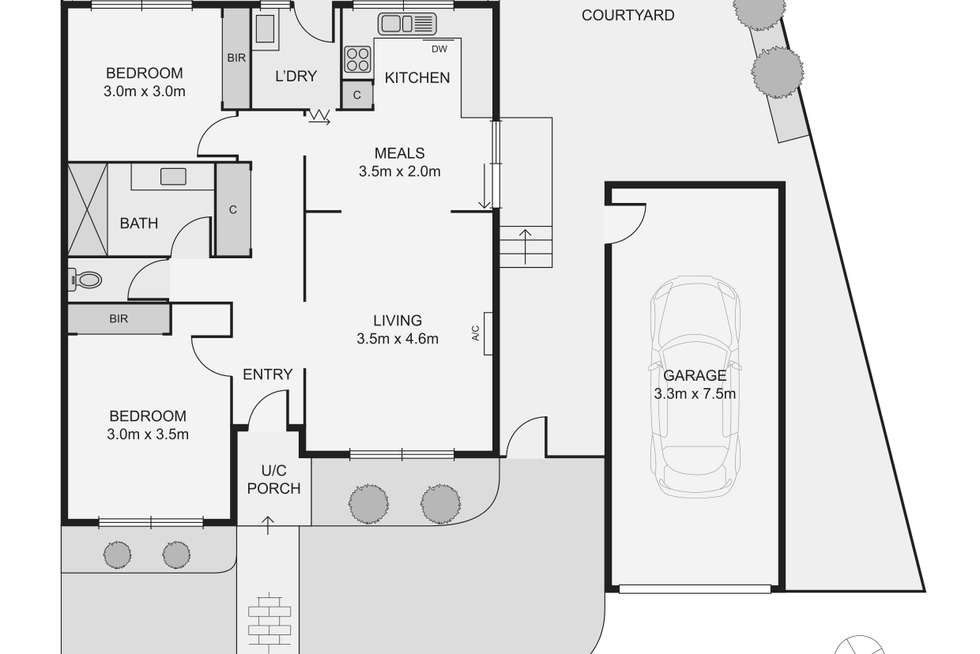 Floorplan of Homely unit listing, 3/15-17 Watt Street, Airport West VIC 3042