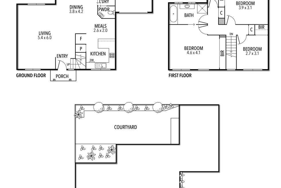 Floorplan of Homely townhouse listing, 5/53-55 Teague Street, Niddrie VIC 3042