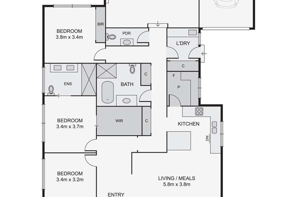 Floorplan of Homely house listing, 25 Ian Crescent, Airport West VIC 3042