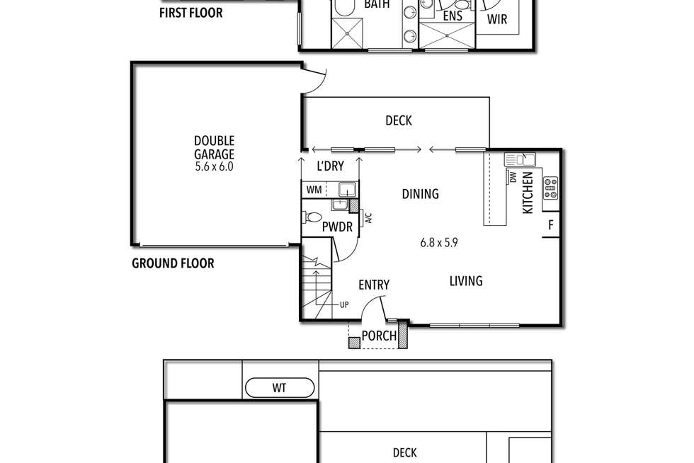 Floorplan of Homely townhouse listing, 2/9 South Road, Airport West VIC 3042