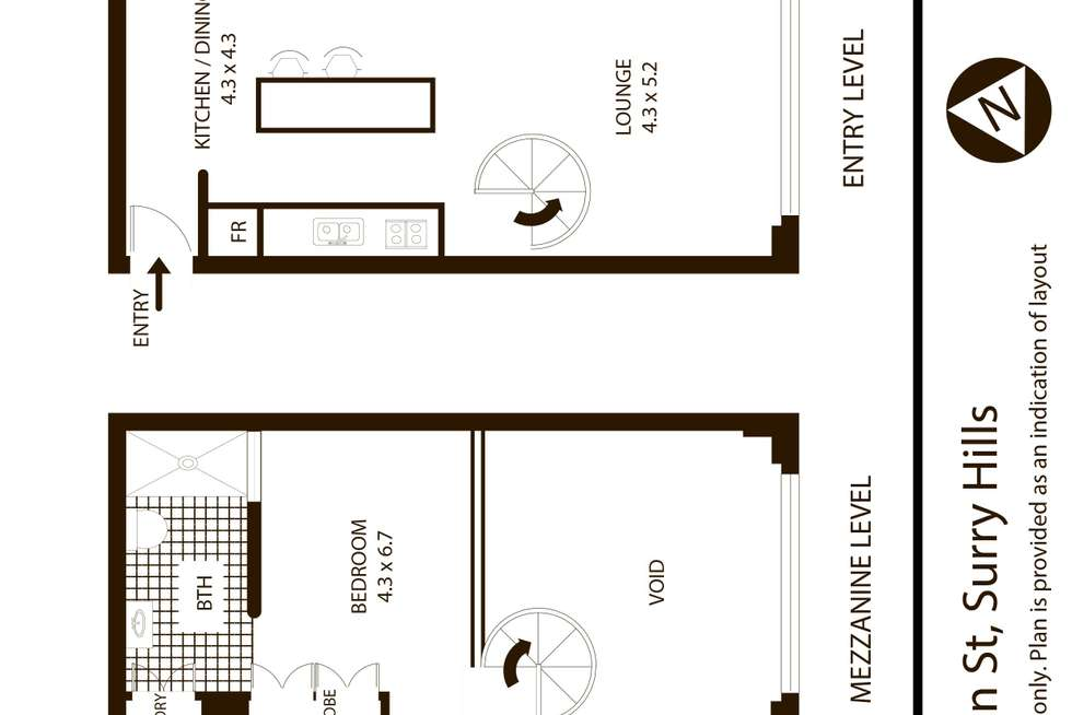 Floorplan of Homely apartment listing, 11/102 Albion Street, Surry Hills NSW 2010