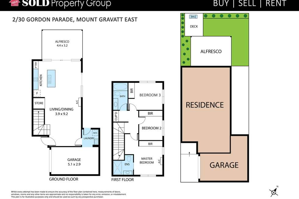 Floorplan of Homely townhouse listing, 2/30 Gordon Parade, Mount Gravatt East QLD 4122