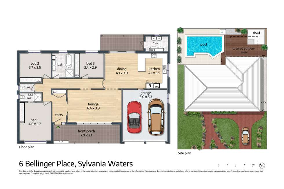 Floorplan of Homely house listing, 6 Bellinger Place, Sylvania Waters NSW 2224