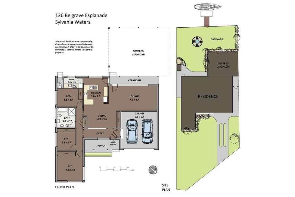 Floorplan of Homely house listing, 126 Belgrave Esplanade, Sylvania Waters NSW 2224