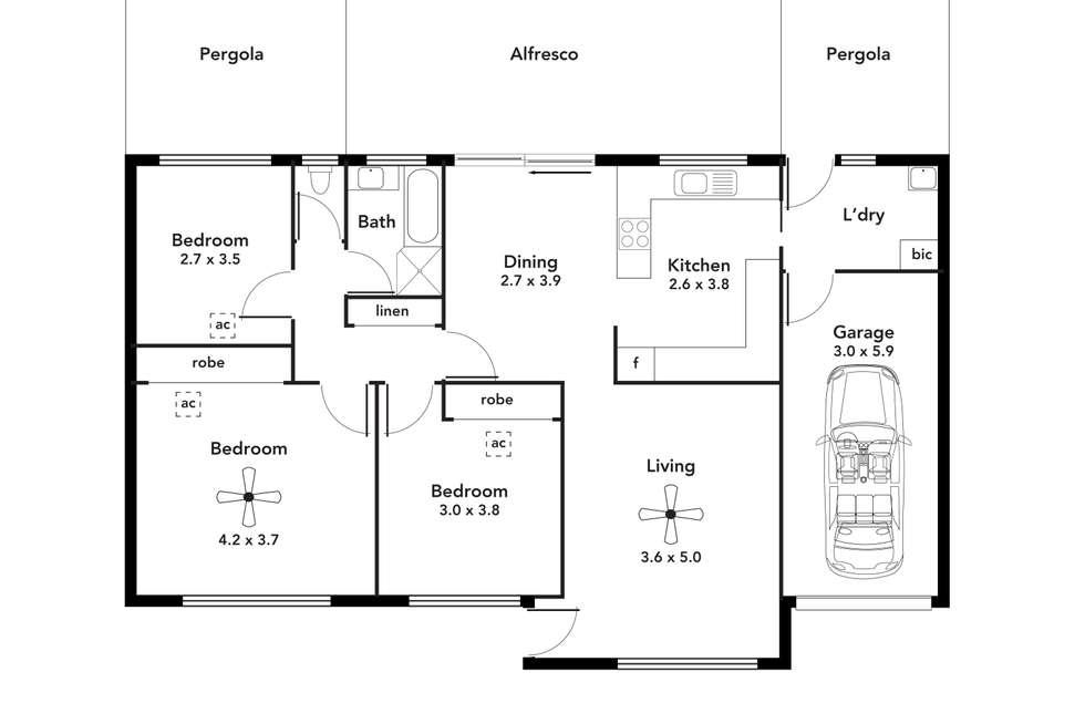 Floorplan of Homely house listing, 2/23 Bandon Terrace, Kingston Park SA 5049