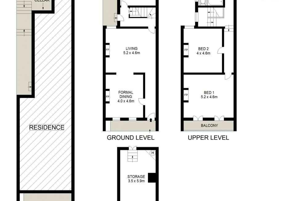 Floorplan of Homely terrace listing, 126 Windsor Street, Paddington NSW 2021