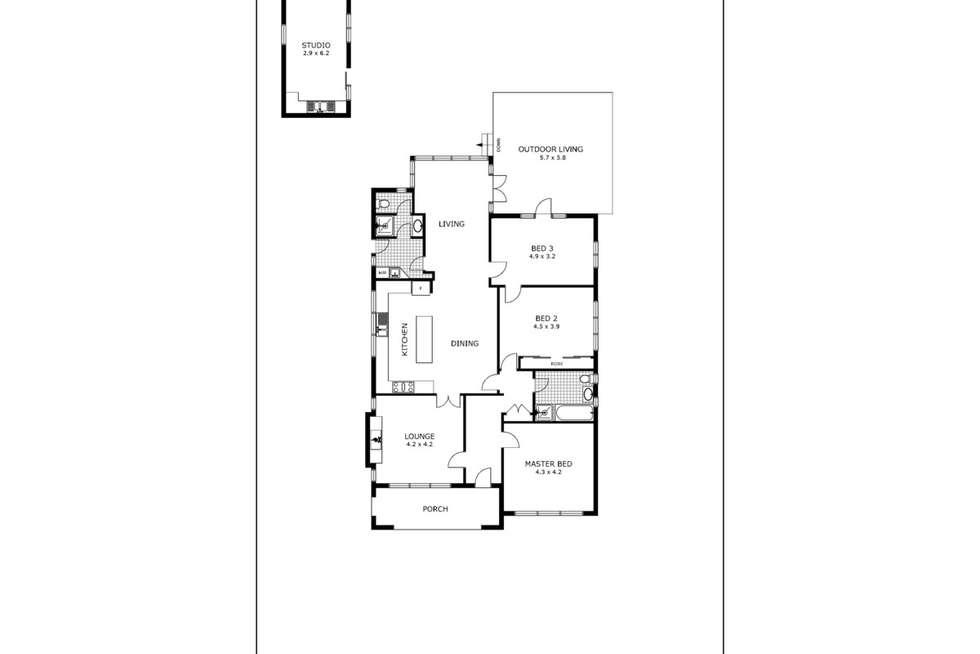 Floorplan of Homely apartment listing, 204/6 Doepel Street, North Fremantle WA 6159