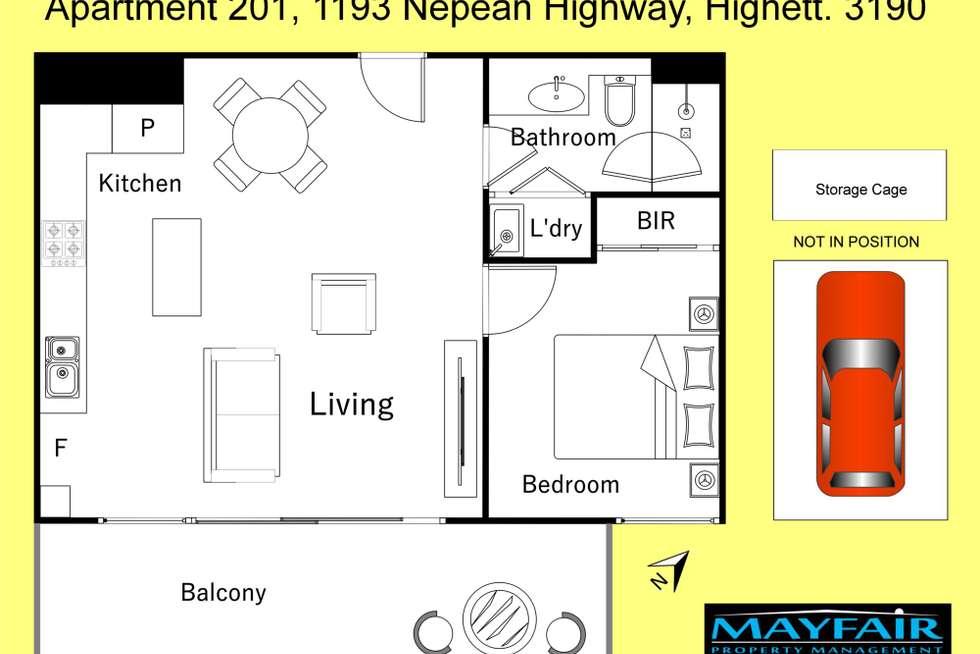 Floorplan of Homely apartment listing, 201/1193 Nepean Highway, Highett VIC 3190
