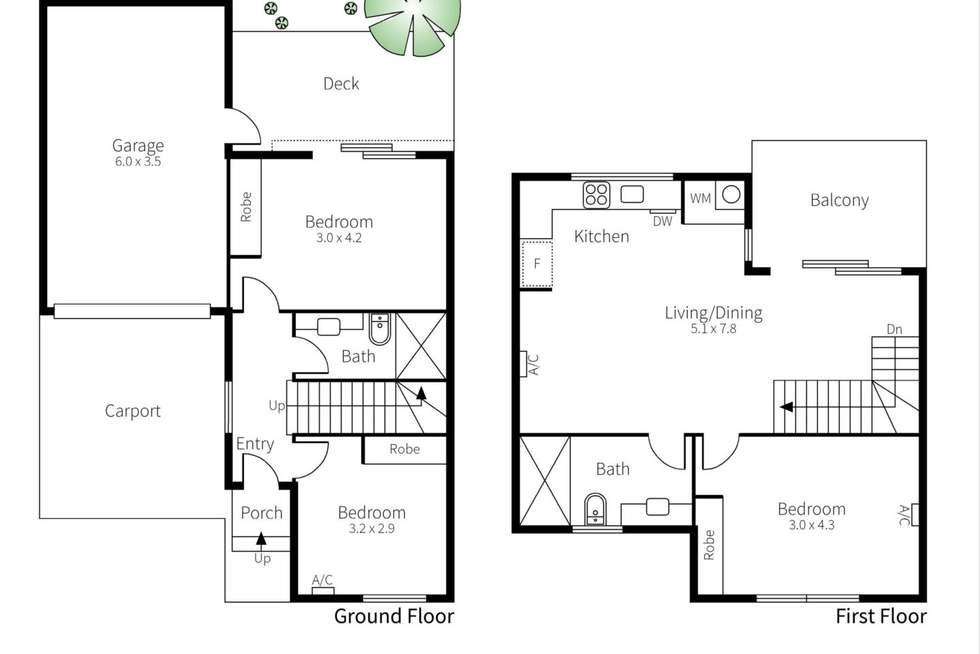 Floorplan of Homely townhouse listing, 4/4 Hamilton Street, Bentleigh VIC 3204
