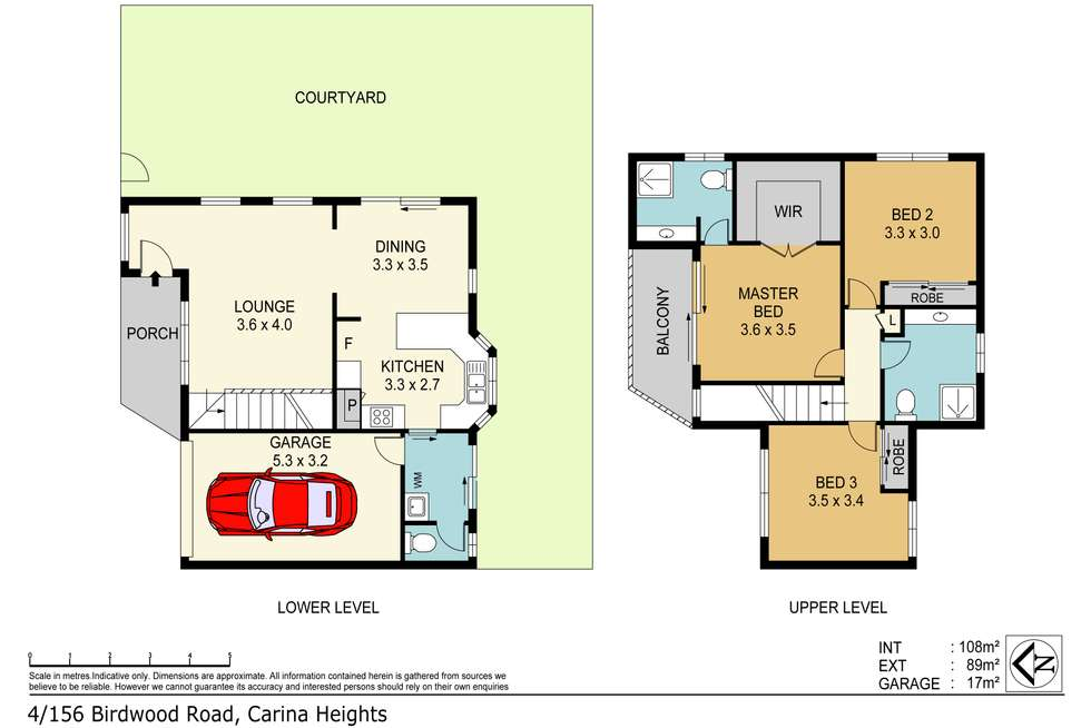 Floorplan of Homely townhouse listing, 4/156 BIRDWOOD ROAD, Carina Heights QLD 4152