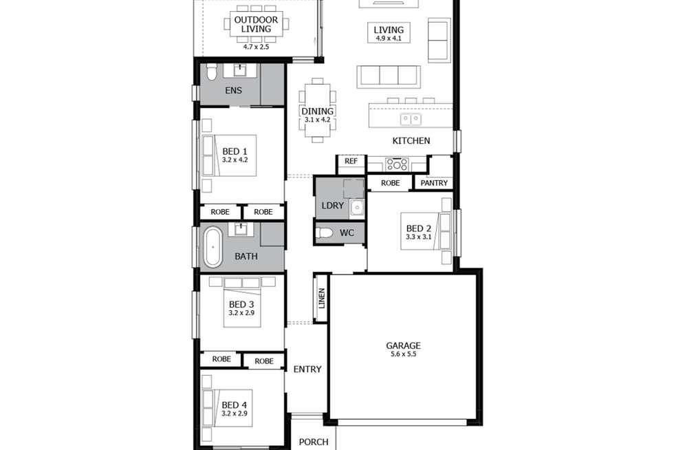 Floorplan of Homely house listing, Lot 16 Hortsmann Circuit, Jordan Springs NSW 2747
