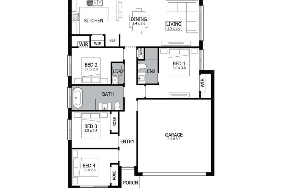 Floorplan of Homely house listing, Lot 1 Hortsmann Circuit, Jordan Springs NSW 2747