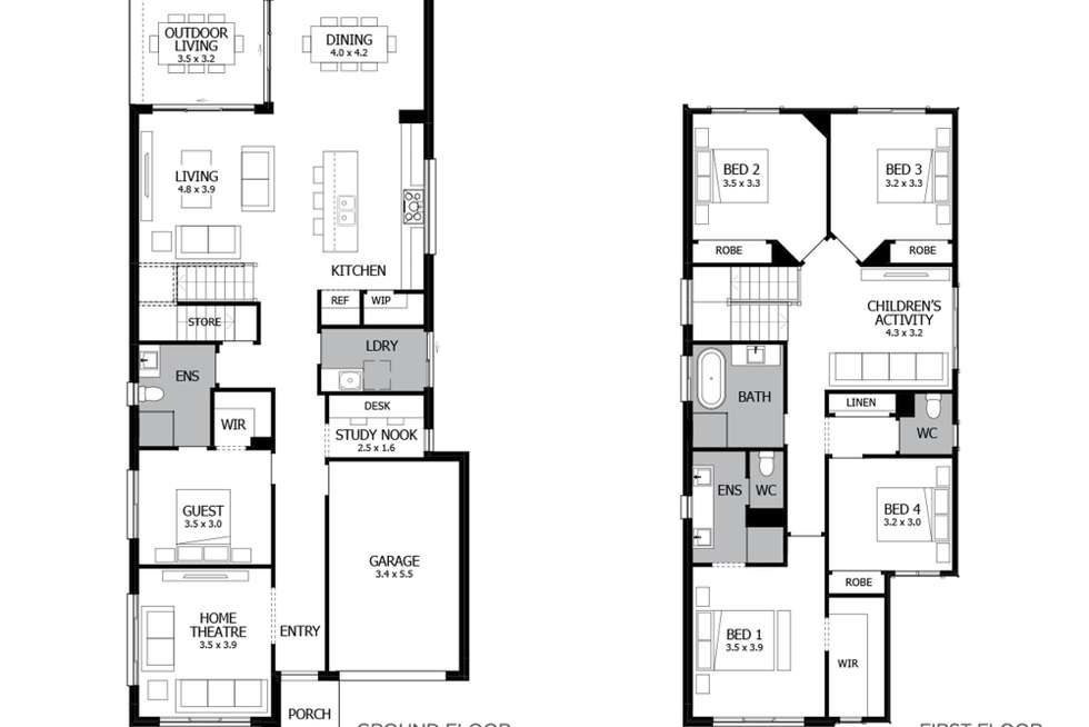 Floorplan of Homely house listing, Lot 44 Proposed Rd, Leppington NSW 2179