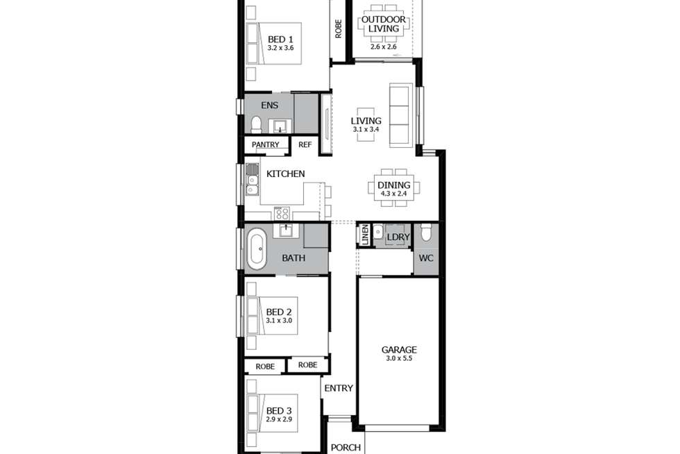 Floorplan of Homely house listing, Lot 9 Proposed Rd, Leppington NSW 2179