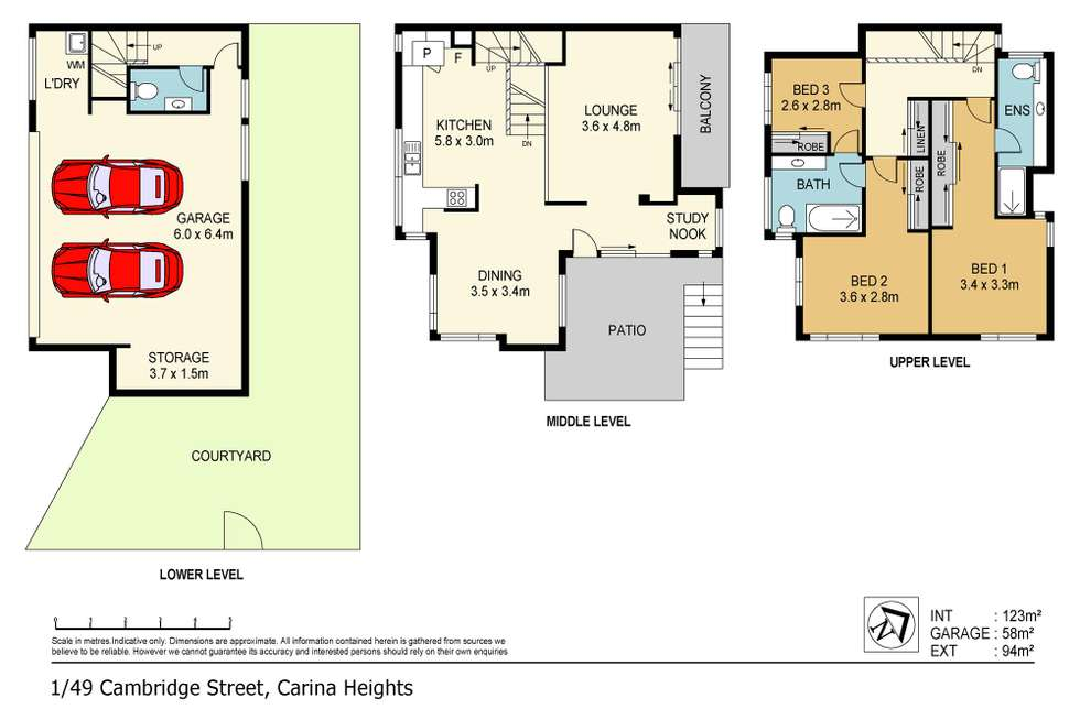 Floorplan of Homely townhouse listing, 1/49 Cambridge Street, Carina Heights QLD 4152