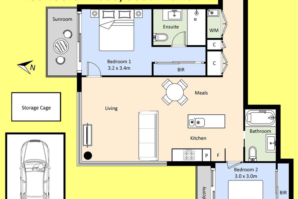Floorplan of Homely apartment listing, 501/200 Toorak Road, South Yarra VIC 3141