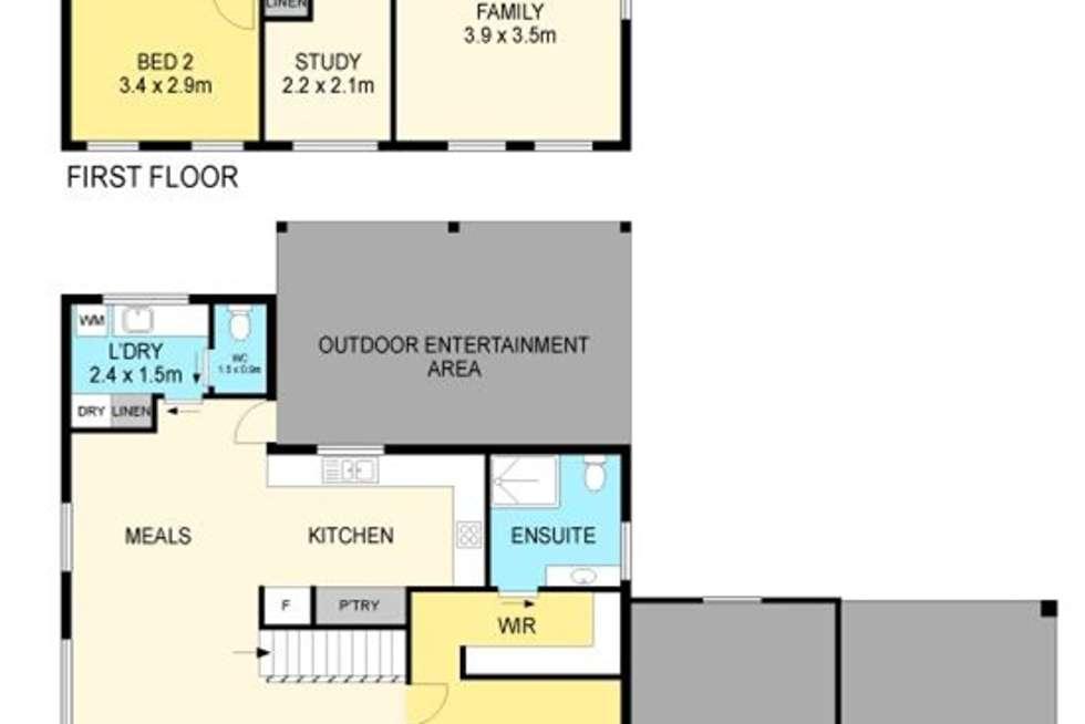 Floorplan of Homely house listing, 13 Oakbank Drive, Mount Helen VIC 3350
