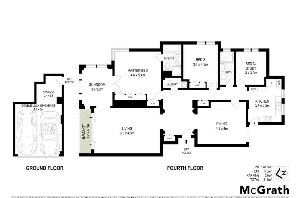 Floorplan of Homely apartment listing, 'Wentworth Towers' 10/3 Wentworth Place, Point Piper NSW 2027