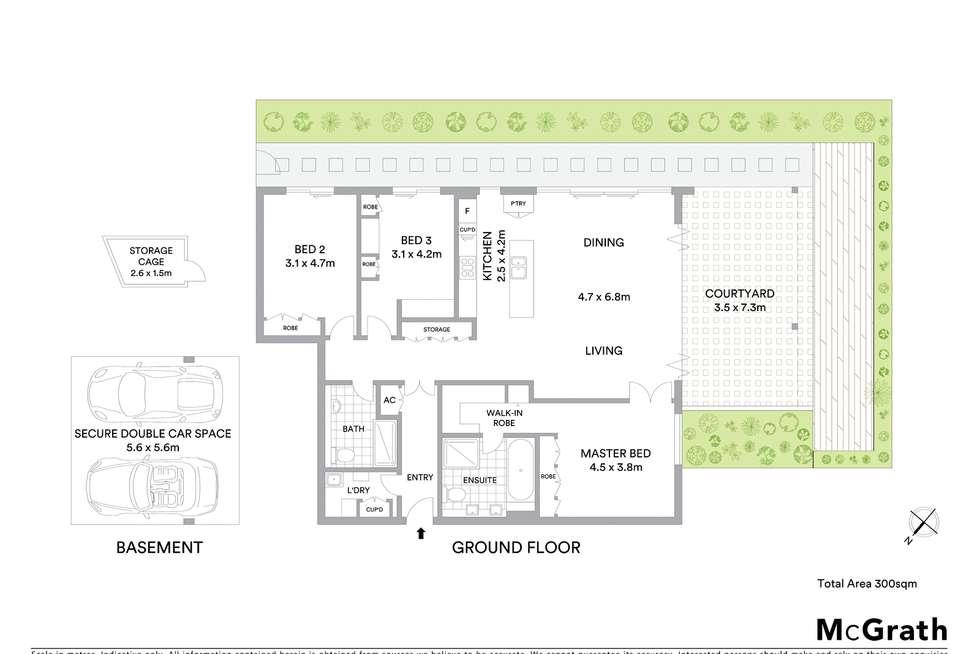 Floorplan of Homely apartment listing, 1/647 Military Road, Mosman NSW 2088