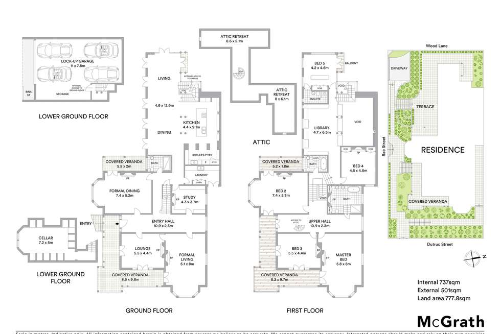 Floorplan of Homely house listing, 'Earlswood' 54 Dutruc Street, Randwick NSW 2031